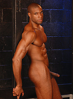 Ebony muscled god Adam Dexter