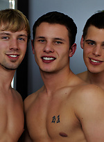 Three hot studs gay sex scene