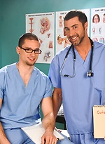 Two horny doctors Justin Beal and Anthony Romero fucking