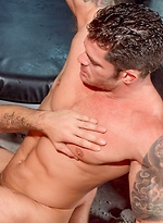 Muscle hunks Caleb Colton and Mitchell Rock fuck
