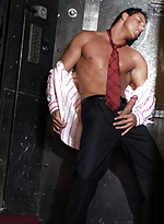 Horny hunk Marcello passes the time in a broken elevator by wanking his cock fast